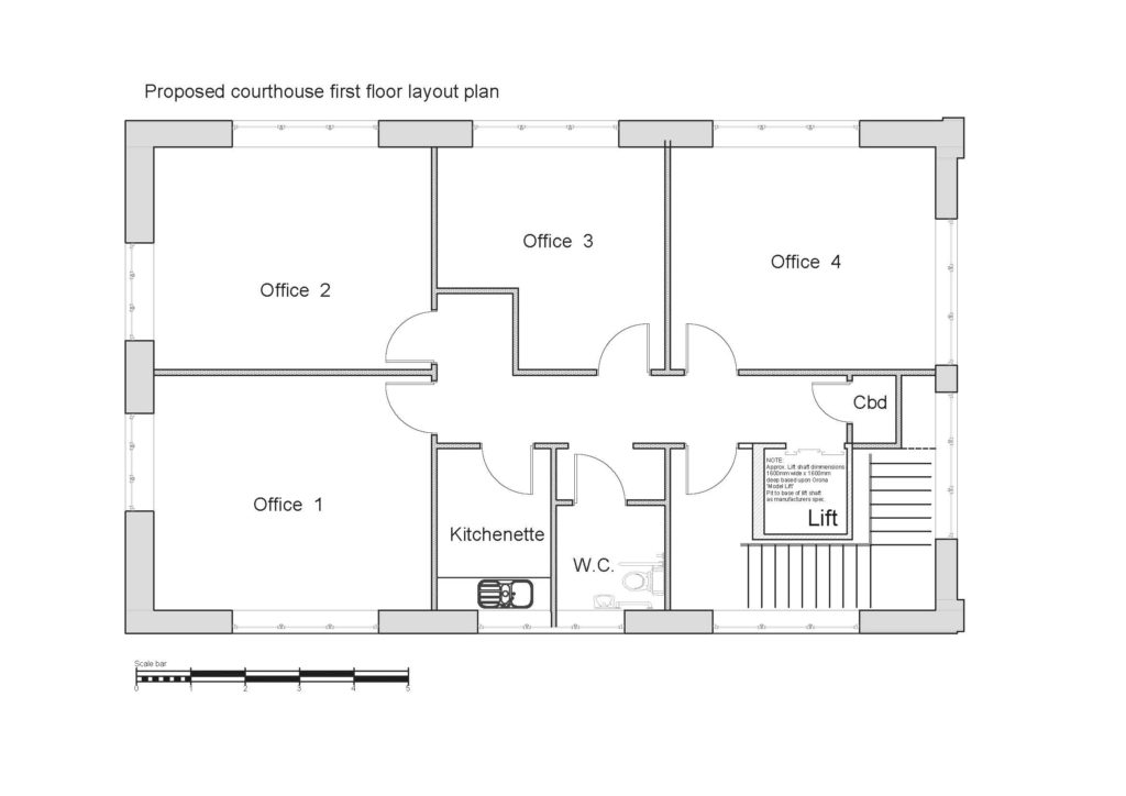 Ammanford Courthouse First Floor Layout - January 2017