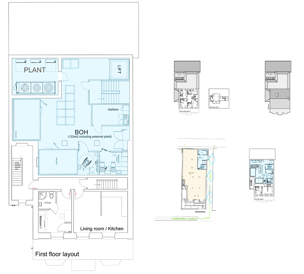 127 Walter Road Swansea Proposed First Floor Layout