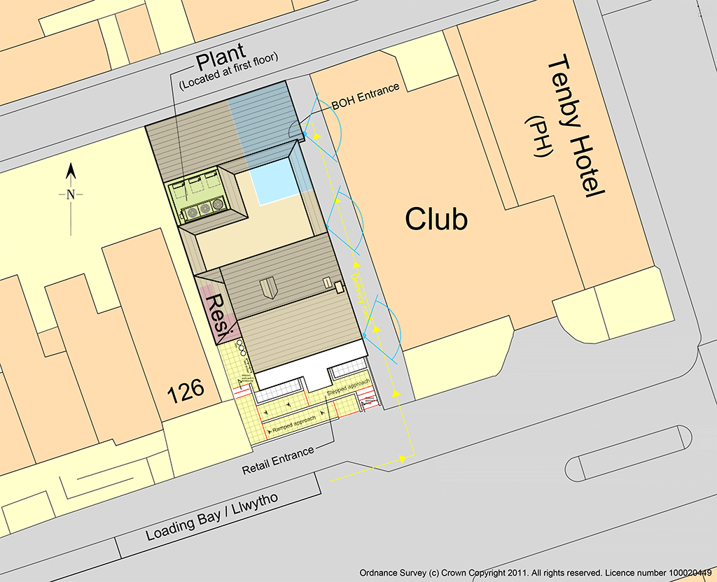 127 Walter Road Swansea Proposed Site Layout