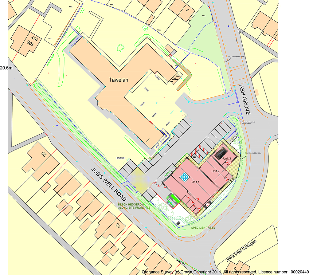 Tawelan Carmarthen location plan
