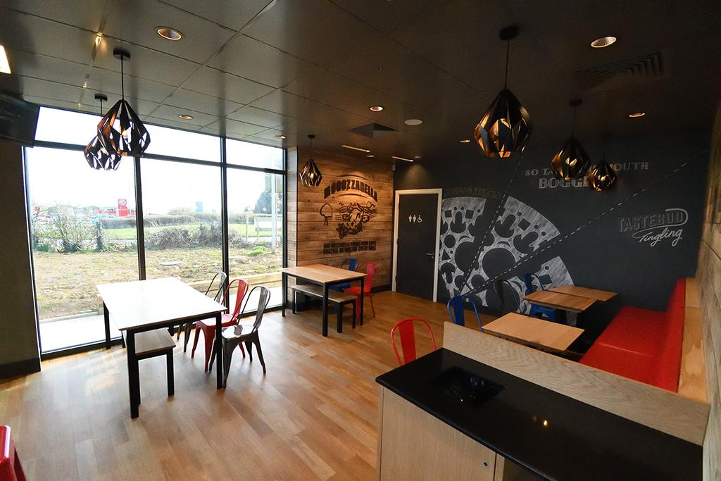 Inside the Domino's Pizza Restaurant in Neyland
