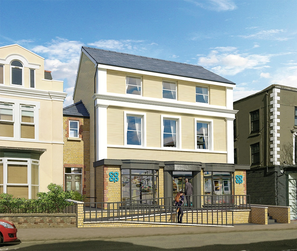 CGI of White Rose Apartments Swansea